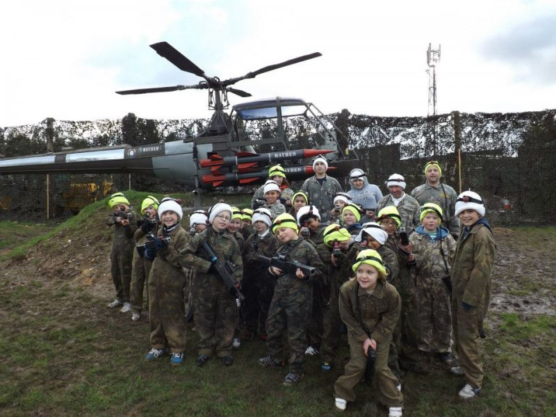 Black Hawk Down awesome themed laser tag field at quaser London
